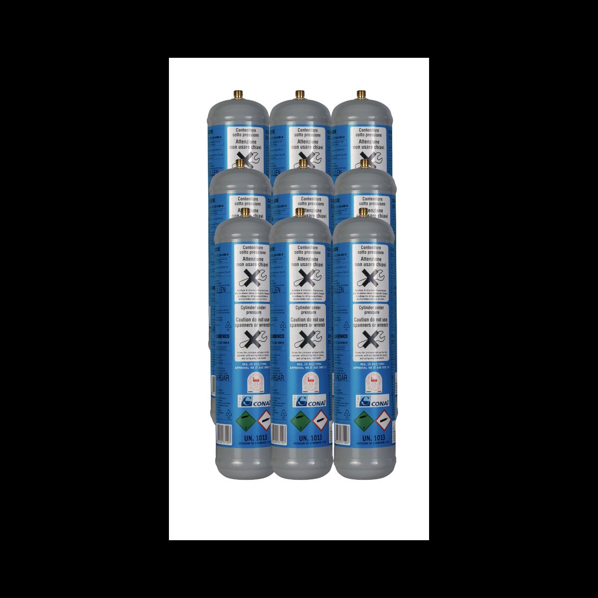 9x CO2 Zylinder 600